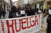 Manifestación de los funcionarios de Justicia en Lorca