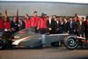 El C.B. Murcia, en la presentación del Hispania Racing Team