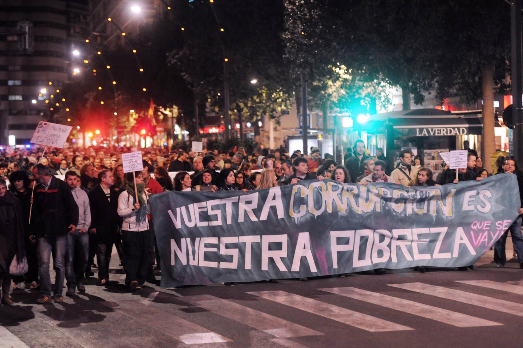 Manifestación en Murcia contra la corrupción