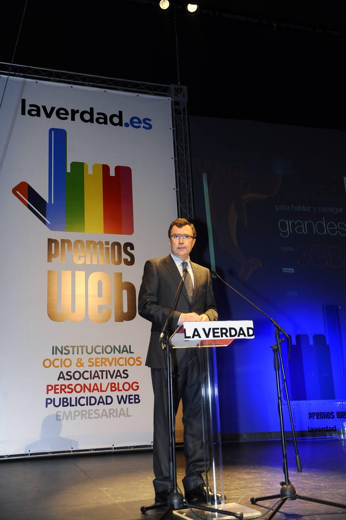 Gala de los V Premios Web de la Región de Murcia