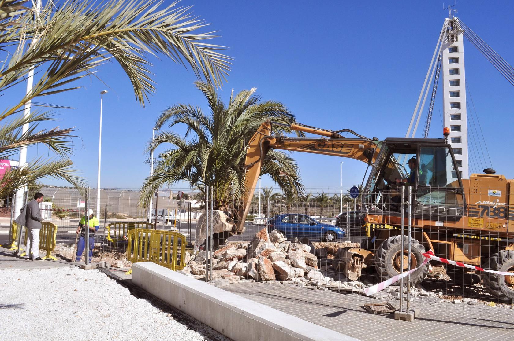 Obras en el puente Bimilenario