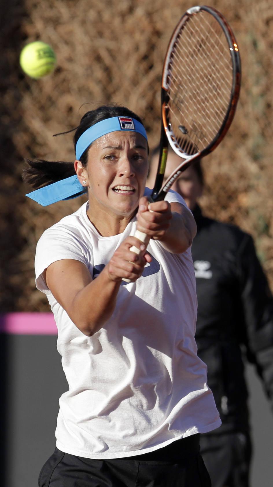El Equipo Español de Tenis Femenino entrena en Alicante