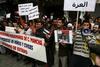 Alrededor de 300 personas protestan en Albacete contra el 'genocidio' en Gaza