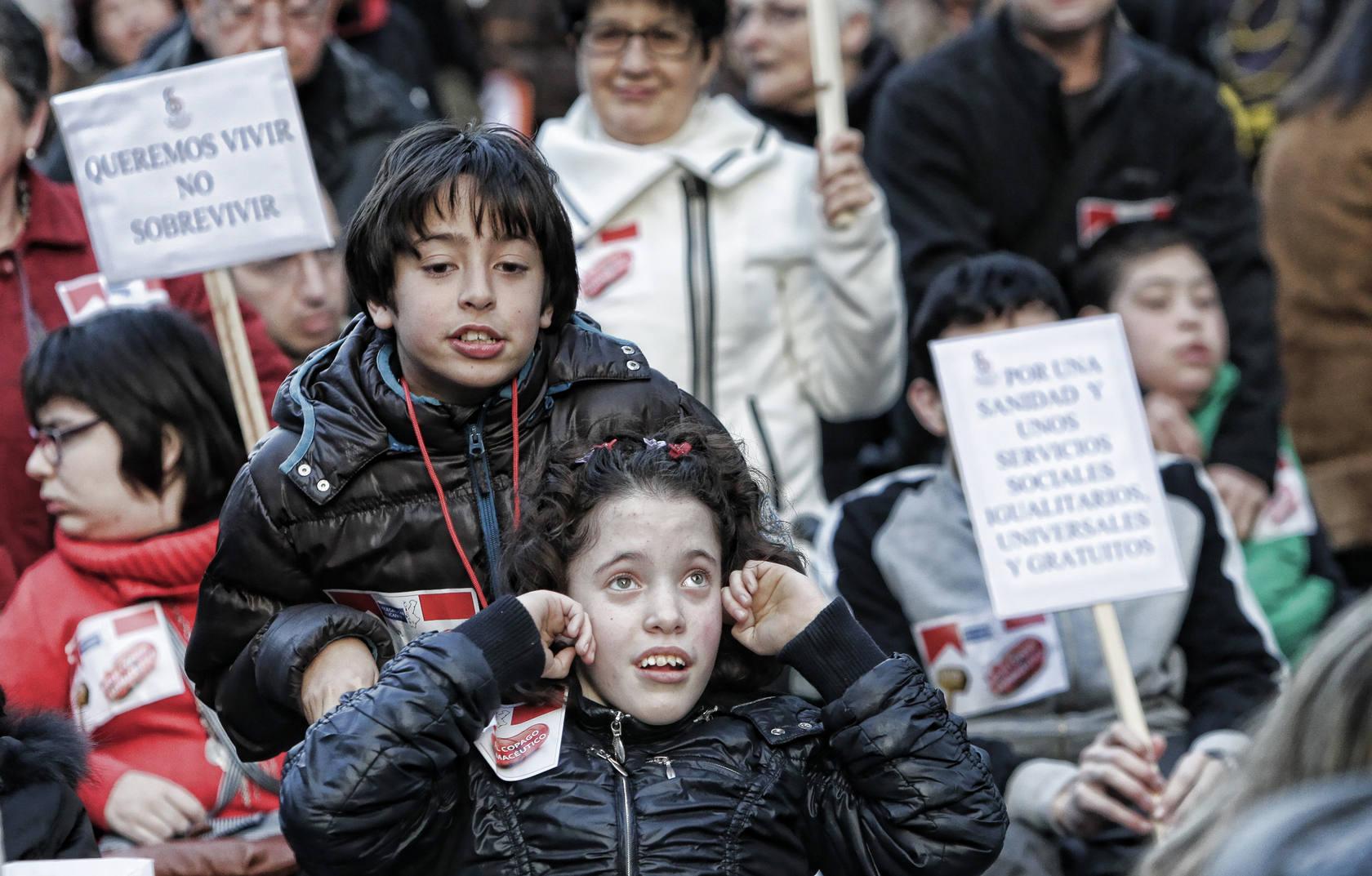 Manifestación contra el copago farmacéutico de los discapacitados