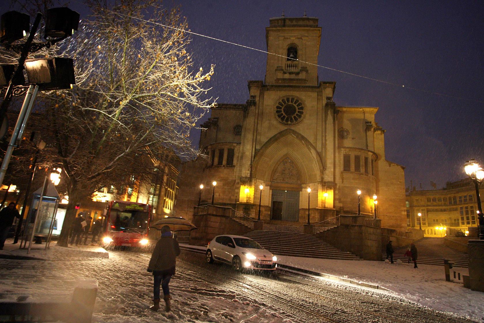 Una intensa nevada cubre toda la provincia de Albacete de blanco